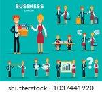 set of businessmen cartoon... | Shutterstock .eps vector #1037441920