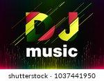 logo dj vector template design | Shutterstock .eps vector #1037441950
