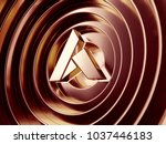 ardor crypto currency symbol in ... | Shutterstock . vector #1037446183