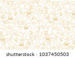 Easter Pattern With Golden...