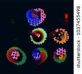 abstract vector background dot...   Shutterstock .eps vector #1037455498
