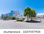 Small photo of CHIGASAKI, KANAGAWA / JAPAN - JUNE 2 2017 : Scenery of Chigasaki Station South Exit. The bus and taxi stands were redeveloped in front of the station, and the department store 'LUSCA' opened.