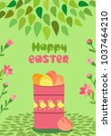 Happy Easter Poster. Spring...