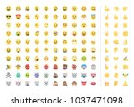 all basic face and hand emojis  ... | Shutterstock .eps vector #1037471098