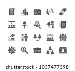 set of human resources filled... | Shutterstock .eps vector #1037477398