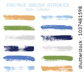 watercolor  ink or paint brush... | Shutterstock .eps vector #1037481598