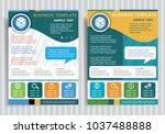 gambling dice symbol on vector... | Shutterstock .eps vector #1037488888