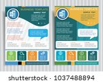 airplane ticket symbol on... | Shutterstock .eps vector #1037488894