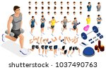 isometrics create your sporty... | Shutterstock .eps vector #1037490763