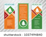 blood  icon on vertical banner. ... | Shutterstock .eps vector #1037494840