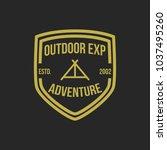 adventure vintage logo design... | Shutterstock .eps vector #1037495260