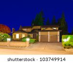 a big luxury house with double  ... | Shutterstock . vector #103749914
