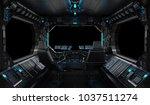 spaceship grunge interior with... | Shutterstock . vector #1037511274