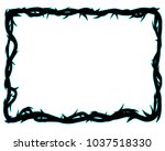 frame of thorns  background... | Shutterstock .eps vector #1037518330