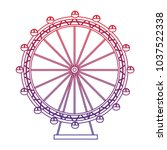 ferris wheel icon image  | Shutterstock .eps vector #1037522338