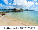 pigeon island beach   tropical... | Shutterstock . vector #1037526439