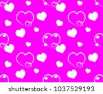 pattern pink background with...   Shutterstock .eps vector #1037529193