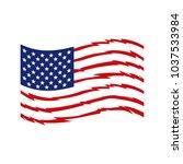 american flag vector | Shutterstock .eps vector #1037533984
