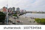 buenos aires  river view in la... | Shutterstock . vector #1037534566