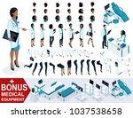 isometric woman doctor african...   Shutterstock .eps vector #1037538658