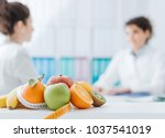 professional nutritionist... | Shutterstock . vector #1037541019