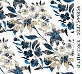 watercolor seamless pattern... | Shutterstock . vector #1037544856