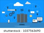 data center creative concept.... | Shutterstock .eps vector #1037563690