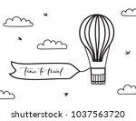 vector illustration of outline... | Shutterstock .eps vector #1037563720