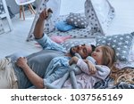 moments of love and happiness....   Shutterstock . vector #1037565169