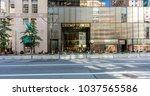 new york city  united states  ... | Shutterstock . vector #1037565586
