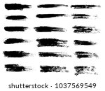painted grunge stripes set.... | Shutterstock .eps vector #1037569549