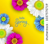 colorful spring background with ... | Shutterstock .eps vector #1037570719