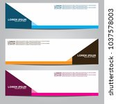 vector design banner... | Shutterstock .eps vector #1037578003