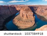 horseshoe bend in grand canyon  ... | Shutterstock . vector #1037584918