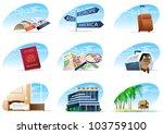 travel icons set   1    Shutterstock .eps vector #103759100