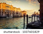wonderful view of grand canal... | Shutterstock . vector #1037601829