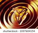 tron crypto currency symbol in... | Shutterstock . vector #1037604154