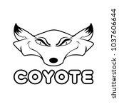 coyote art vector | Shutterstock .eps vector #1037606644