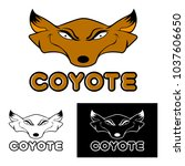 coyote art vector | Shutterstock .eps vector #1037606650