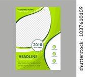 flat brochure business | Shutterstock .eps vector #1037610109
