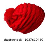 knitted hat isolated on white ... | Shutterstock . vector #1037610460