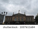 national theatre. neo classical ... | Shutterstock . vector #1037611684