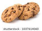 chocolate chip cookies isolated ... | Shutterstock . vector #1037614060