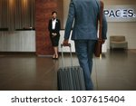 rear view of businessman... | Shutterstock . vector #1037615404