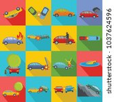 accident car crash case icons... | Shutterstock .eps vector #1037624596