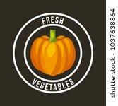 fresh organic food emblem image | Shutterstock .eps vector #1037638864