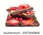 stack of chocolate bar pieces...   Shutterstock . vector #1037640868