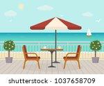 Cafe On The Terrace Near The...