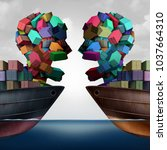 trade dispute economic... | Shutterstock . vector #1037664310