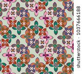 new multicolor seamless pattern ... | Shutterstock . vector #1037666188
